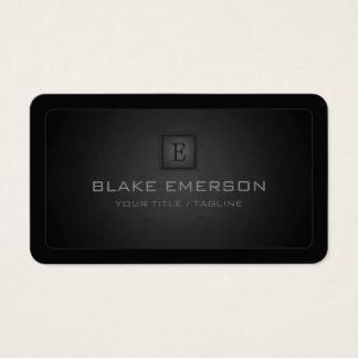 Monograma profesional oscuro de las esquinas tarjeta de visita