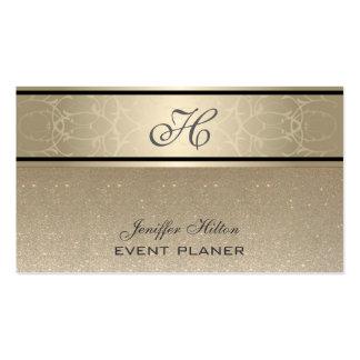 Monograma reluciente de lujo elegante elegante tarjetas de visita