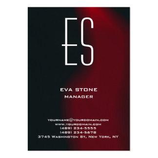 Monograma rojo marrón simple llano elegante tarjetas de visita grandes