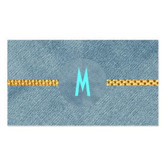 Monograma rústico que casa de moda moderno del tarjetas de visita