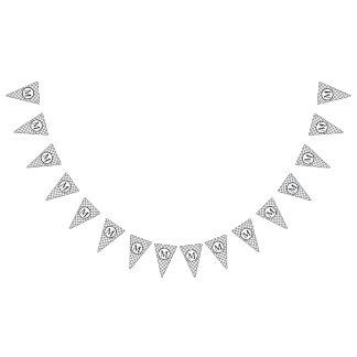 Monograma simple con el tablero de damas gris banderines