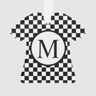 Monograma simple con el tablero de damas negro