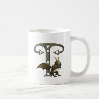 Monograma T de los Gargoyles Taza