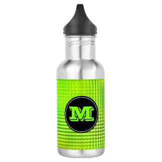 Monograma verde claro del personalizado del modelo botella de agua