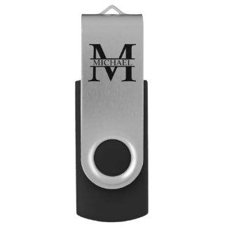 Monograma y nombre personalizados memoria USB