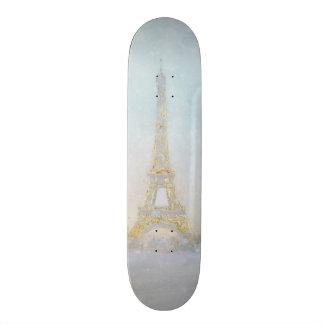 Monopatín 18,1 Cm Imagen de la acuarela el | de Eiffel Towe