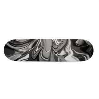 Monopatín 18,4 Cm Derramamiento del color (en blanco y negro)