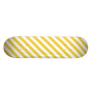 Monopatín 18,4 Cm Modelo diagonal amarillo y blanco de las rayas