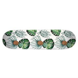 Monopatín 18,4 Cm Pintura tropical de la piña de la acuarela en
