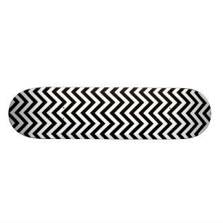 Monopatín 18,7 Cm El zigzag blanco y negro raya el modelo de Chevron