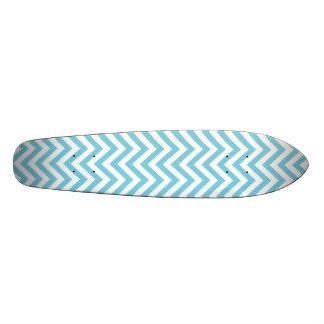 Monopatín 20 Cm El zigzag azul y blanco raya el modelo de Chevron