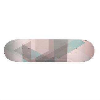 monopatín abstracto en colores pastel