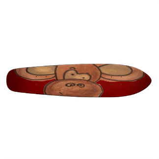 Monopatín aplastado del mono