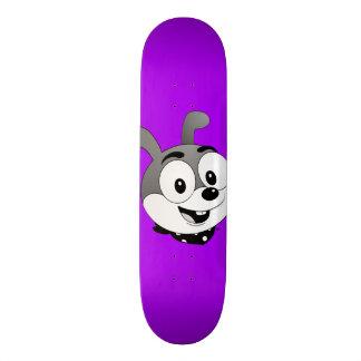 Monopatín clásico de la púrpura del conejito del