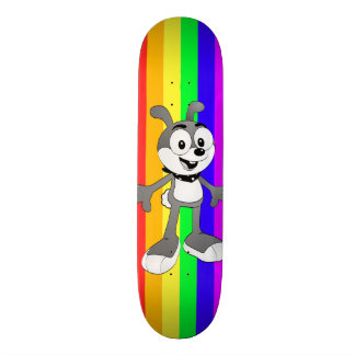 Monopatín clásico del arco iris del conejito del