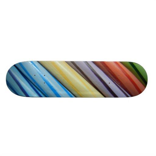 Monopatín del arte del lápiz del color