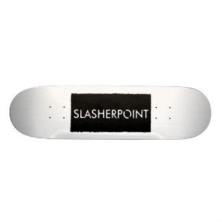 Monopatín del blanco de la marca de SLASHERPOINT™