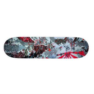 Monopatín del kamikaze - cubierta de la pintada Sk