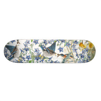 Monopatín floral de los animales de los pájaros