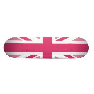 Monopatin Personalizado ~ de Union Jack en rosas femeninos