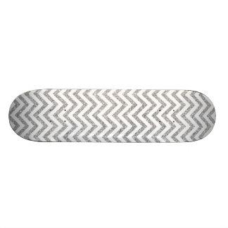 Monopatín Personalizado El zigzag de plata del brillo raya el modelo de