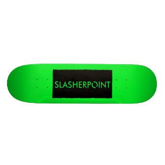 Monopatín verde claro de la marca de SLASHERPOINT™