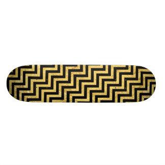 Monopatines Negro y modelo de Chevron de las rayas del zigzag