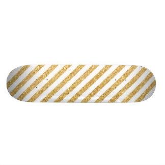 Monopatines Personalizados Falso brillo elegante del oro y modelo blanco de
