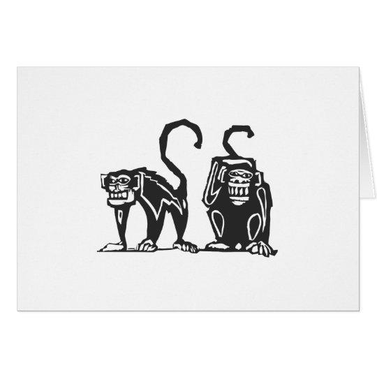 Monos africanos tarjeta de felicitación