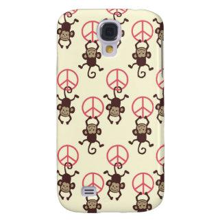 Monos del signo de la paz funda para galaxy s4