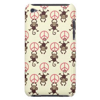 Monos del signo de la paz funda para iPod