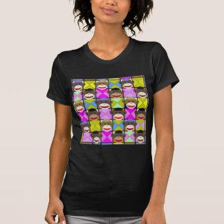 Monos del tablero de damas camisetas