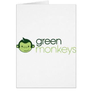 Monos verdes tarjeta