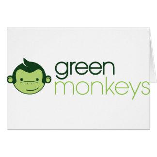 Monos verdes felicitación