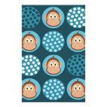 Monos y papel azules de la envoltura del jabón de  tarjetas informativas
