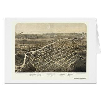 Monroe, mapa panorámico del MI - 1866 Tarjeta De Felicitación