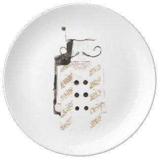Monsieur Chef Porcelain Plate Plato De Porcelana