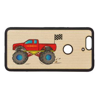 Monster truck fundas de madera para nexus s6p