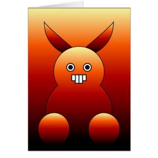 Monstruo asustadizo del conejito tarjeta