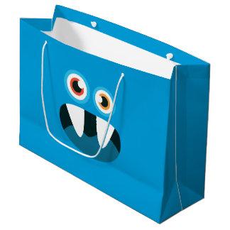 Monstruo azul bolsa de regalo grande