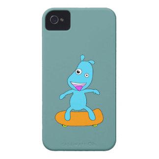 Monstruo azul lindo iPhone 4 protectores