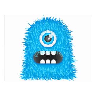 Monstruo azul postal