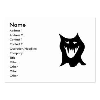 Monstruo blanco y negro tarjetas de visita grandes