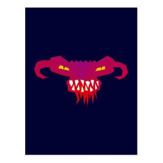 Monstruo cara face tarjetas postales