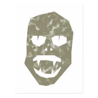 Monstruo cara face postal