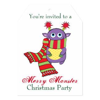 Monstruo con la bufanda del día de fiesta invitación 12,7 x 17,8 cm