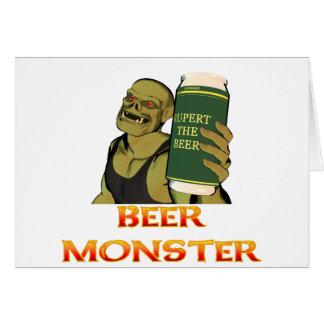Monstruo de la cerveza felicitaciones
