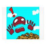 Monstruo de la galleta comunicado personalizado