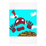 Monstruo de la galleta papelería personalizada