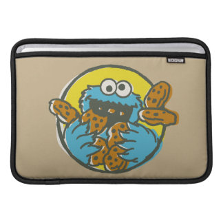Monstruo de la galleta retro funda para MacBook